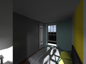 Réaménagement espace haussmanien chambre