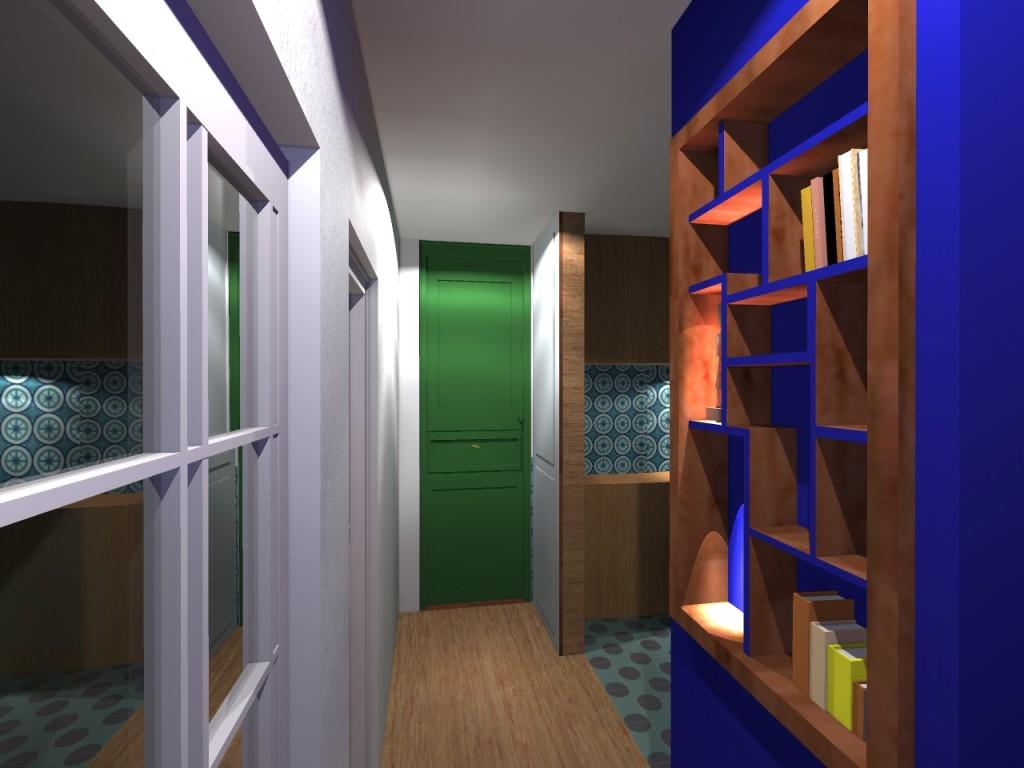 Réaménagement espace haussmanien couloir