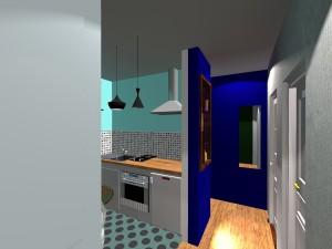 Réaménagement espace haussmanien entre couloir