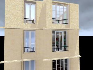 Réaménagement espace haussmanien facade