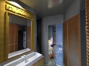 Réaménagement espace haussmanien salle de bain
