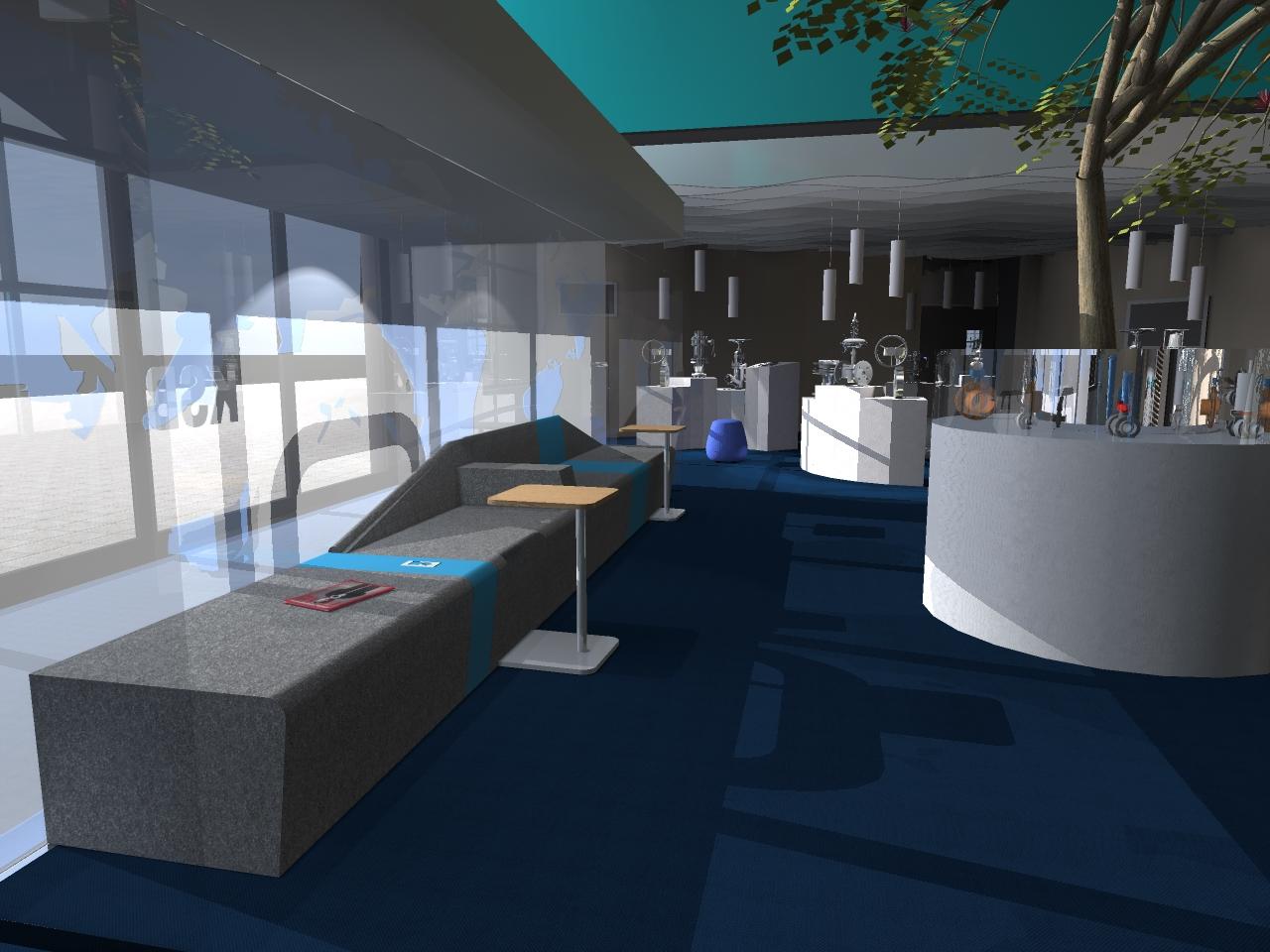 Aménagement espace hall usine , musée, espace de réunion & espace cafeteria